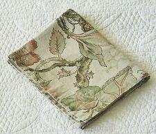 Pottery Barn Grace Floral Texture Cotton Linen Blend King Pillow Sham ~ EUC