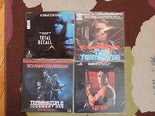 Lot of 4 Laserdiscs!Total Recall;The Terminator;The Terminator 2;Raw Deal