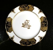A Stunning Rare Tuscan Black And Gold Oriental Sweets Plate