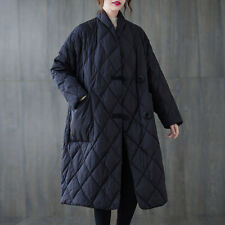 Womens Oversize Loose Stand Collar Padded Outwear Winter Warm Lightweight Casual
