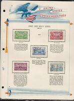 united states commemoratives army & navy series 1936/37 stamps page ref 18265