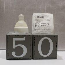 5 Nuk Kliniksauger Größe 2 groß gelocht kiefergerechte Form Latex Trinksauger