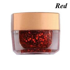 8 Colors Nail Art Powder Glitter Dust Polish UV GEL Acrylic Tips Decoration Red