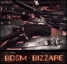 Hardwearing10x Leather bondage kit hand ankle cuffs restraints gag whip collar