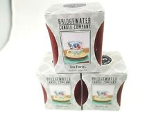 Bridgewater Tea Party Votives -  lot 3 - scented wax New - free US ship
