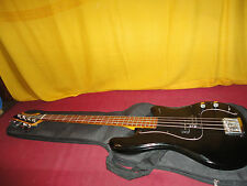 Vintage Black Ovation Ultra Electric Bass Guitar With Gig Bag