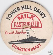MILK BOTTLE CAP. TOWER HILL DAIRY. CHARLTON DEPOT, MA.