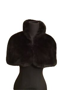 Black Faux Fur Bolero - One Size Fm Debenham