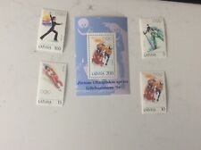 Lillehammer Olympic Games 1994 Latvia set and sheet