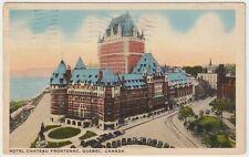 Hotel Chateau Frontenac, Quebec, Canada - 1939 Vintage Postcard