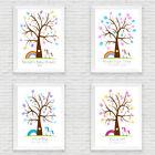 BABY SHOWER PERSONALISED UNICORN FINGERPRINT TREE PREDICTION TREE / BOY / GIRL