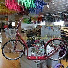 "20"" ADULT KICK SCOOTER - RED Amish Foot Bike Basket Brakes & Racing Wheels USA"
