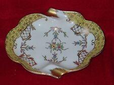 New listing Vintage ~ Ashtray ~ Trinket Dish Floral w/ Gold Trim