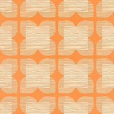 ORLA KIELY FOR HARLEQUIN FLOWER TILE WALLPAPER 110422 COLOUR CLEMENTINE