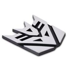 Auto Car 3D Transformer Decepticon Logo Emblem Badge Sticker Decal Chrome