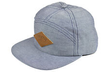BRIXTON WHARF 7 PANEL CAMPER CAP NAVY HEATHER AUTHENTIC - IMPORTED FROM USA