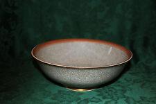 Royal Copenhagen Thorkild Olsen Gray and Orange Crackle Glaze Bowl