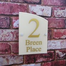 House Name Sign Plaque Door Number Top quality CHOICE OF COLOURS