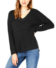 Hippie Rose | Mossy Ribbed-Knit Tunic Top | Black | S