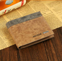 Bifold Leather Mens Wallet ID Business Credit Card Holder Purse Clutch Pocket EY