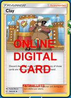4X Clay 188/236 Cosmic Eclipse Pokemon Online Digital Card
