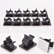 10Pcs Adhesive Wire Cord Cable Drop Clips Desk Tidy Organizer Holder Line Fixer