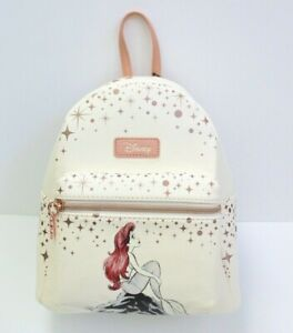 Loungefly Disney The Little Mermaid Ariel Rose Gold Faux Leather Mini Backpack