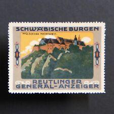 Poster Stamp * GERMANY * Reutlingen Castle Advertising Label • Cinderella