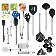 23pcs Stainless Steel Kitchen Utensil Set Cooking Tools Heat Resistant Non-Stick