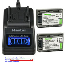 Kastar Battery LCD Quick Charger for Sony NP-FP50 NP-FP51 Sony DCR-DVD92 DVD92E