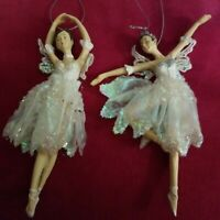 Ballerina Ornaments By Katherine's Collection SET OF 2 NWT! Gorgeous!! Save!!
