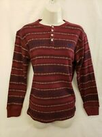 LUCKY BRAND WOMENS LONG SLEEVE PULLOVER TOP SWEATER SIZE L DARK RED CREW NECK
