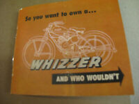 SO YOU WANT TO OWN A WHIZZER  brochure catalog reprint    FREE SHIPPING