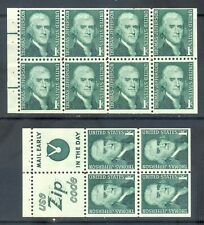US Stamp (L1322) Scott# 1278a and 1278b, Mint NH OG, Booklet Pane