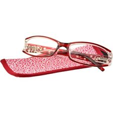 Foster Grant Women's Oval Reading Glasses - Holland (Red)