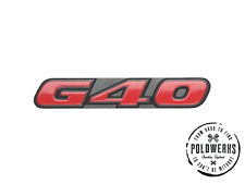 VW Polo G40 Grill Badge Mk2 Mk2f Mk3 Coupe Breadvan Genuine New Part