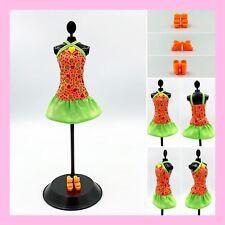 "Fits curvy Barbie too Barbie NEW! FR Integrity fashion /""Neon ORANGE Dress/"""