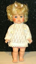 Vintage Dublon EEGEE Co. Doll 13 Inch Blonde GORGEOUS DOLL W/PAINTED EYES 1960s