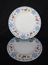 """PFALTZGRAFF """"NORDIC CHRISTMAS"""" Pattern  Dinner Plate 10.5"""" Multi-Color 2 piece!!"""