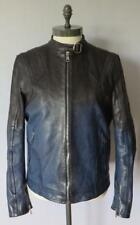 Gucci Blue Black Two Tone Leather Jacket