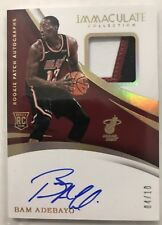 2017-18 Immaculate BAM ADEBAYO RC Patch Auto RPA Gold #/10 SP Heat