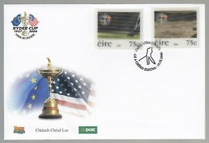 Ireland 2005 FDC Ryder Cup 2nd Issue - Lenticular Stamps