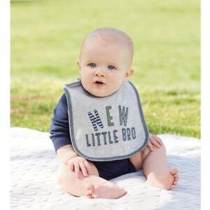 Mud Pie E0 Baby Boy New Little Bro Feeding Bib 1552349