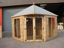 10' x 10' New Modern Corner Summer House RRP £3888  Delivery charges applicable
