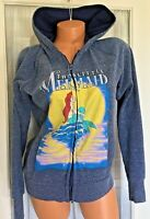 Disney Store Broadway Ariel Little Mermaid Zip Up Hoodie sweat Jacket coat Small