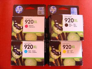 4 leere Druckerpatronen 920 XL für HP Officejet
