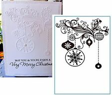 Christmas Decorations HSFC003  embossing folder Crafts Too Embossing Folders