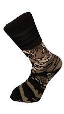 tigre couché marron Socquettes Unisexe nouveauté taille adulte 6-11