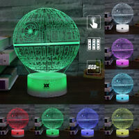 3D LED Night Light 7 Color Star Wars Touch Remote Control Switch Table Desk Lamp