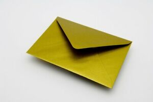 25 High QualityGold Metal C7 82x113mm Envelopes for A7 Cards 100gsm FREE UK P&P